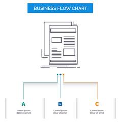 News newsletter newspaper media paper business vector
