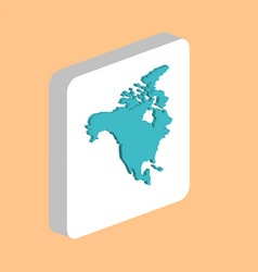 north america usa computer symbol vector image