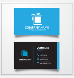 Picture icon business card template vector