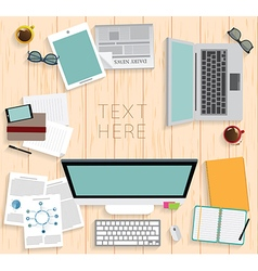 Realistic workplace organization vector