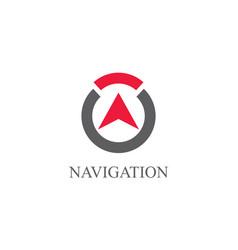 round navigation logo vector image