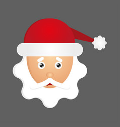 Sad santa face free vector