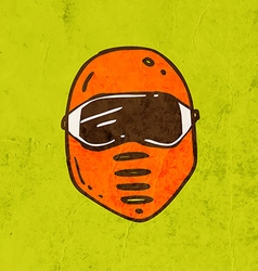 Safety Mask Cartoon vector image