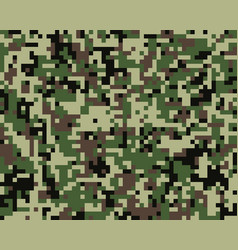seamless militaristic camouflage vector image