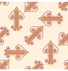 Seamless pattern with grungy arrows vector image