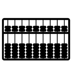 Silhouette of abacus vector