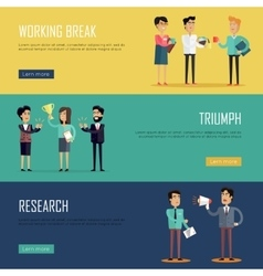 Social Teamwork Concept Website Design Template vector
