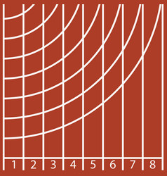 start of a running track with number and line vector image