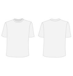 T-shirt mockup front and back sides vector