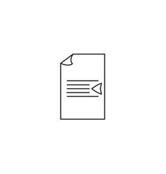 text dedent icon vector image