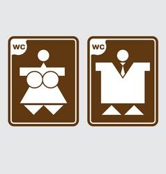 toilet symbols wc vector image vector image