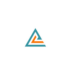 triangle line abstract company logo vector image