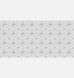 White islamic background arabic pattern 3d paper vector