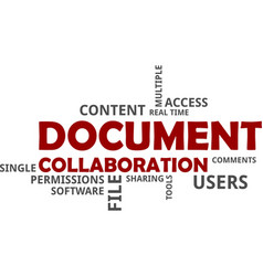 Word cloud - document collaboration vector