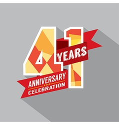 41st years anniversary celebration design vector