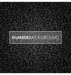 black number background vector image vector image