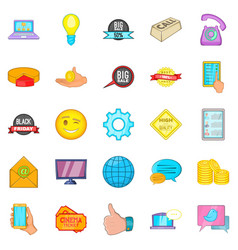 internet shop icons set cartoon style vector image vector image