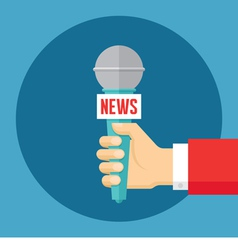 News concept in flat style vector image vector image