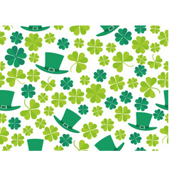 patricks day seamless pattern with green clover vector image vector image