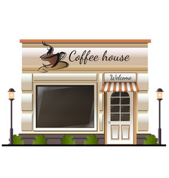 coffee house store colored vector image vector image