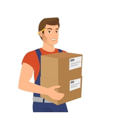Delivery service man vector image