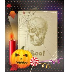 vintage halloween vector image vector image