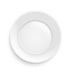Classic plate vector image