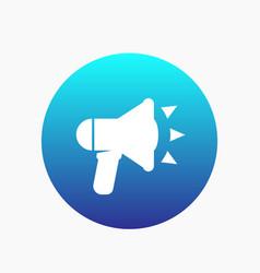 loudspeaker icon megaphone bullhorn sign vector image