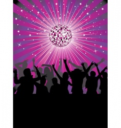 nightlife in the disco club vector image vector image