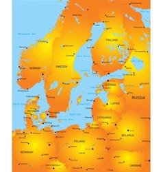 Baltic region countries vector image vector image