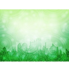 ecological city vector image vector image