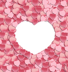 Empty White Hearts and Petals vector image vector image