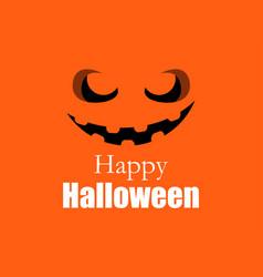 happy halloween pumpkin jack o lantern icon vector image