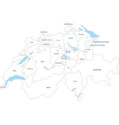 Outline Switzerland map vector image vector image