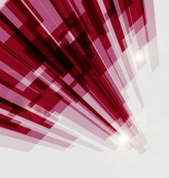 Perspective red abstract straight lines background vector image vector image