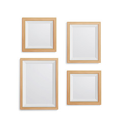 realistic photo frame set collection of vector image vector image
