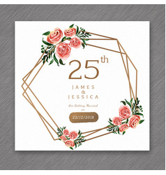 25 watercolor wedding anniversary floral frame vector