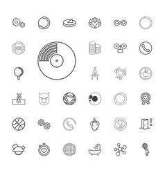 33 circle icons vector