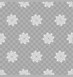 abstract pattern of transparent falling snowflakes vector image