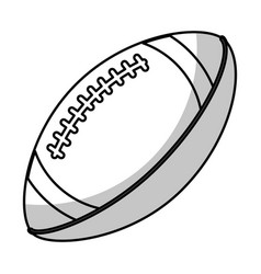 amerian football ball equipment - shadow vector image