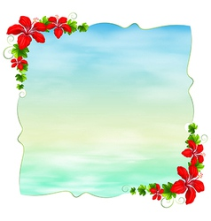 An empty template with floral borders vector image