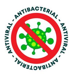 Antibacterial gel icon - antiviral sanitizer sign vector