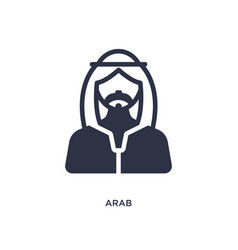Arab icon on white background simple element from vector