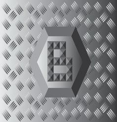 B Text Aluminium Wallpaper vector