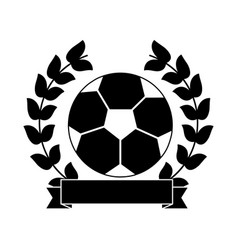 ball football soccer emblem image vector image