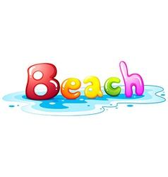 Beach artwork vector