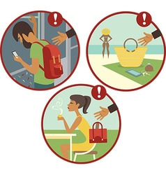 Beware pickpockets vector