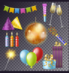 birthday party cartoon happy birth vector image