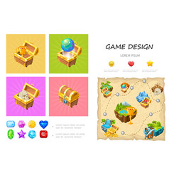 cartoon game ui infographic concept vector image