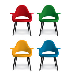 chair isolated on white set 3d vector image